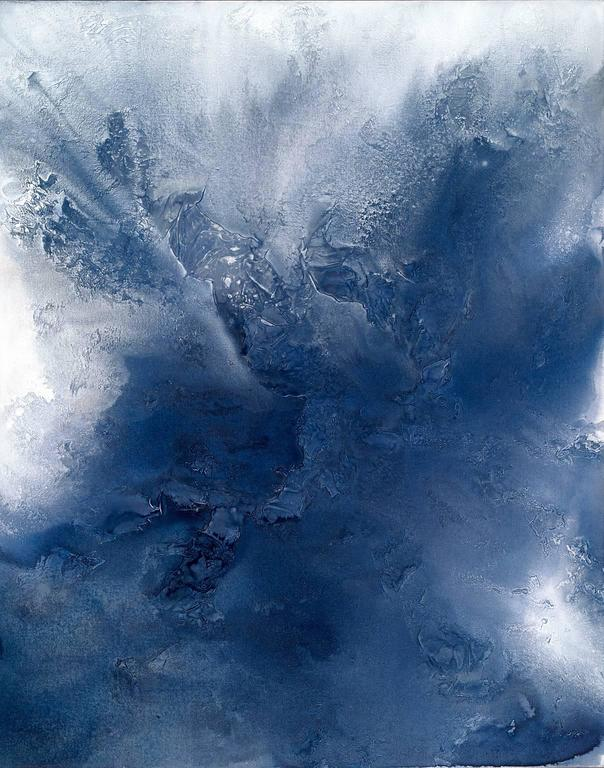 Teodora Guererra Indigo Exhale Painting For Sale At 1stdibs