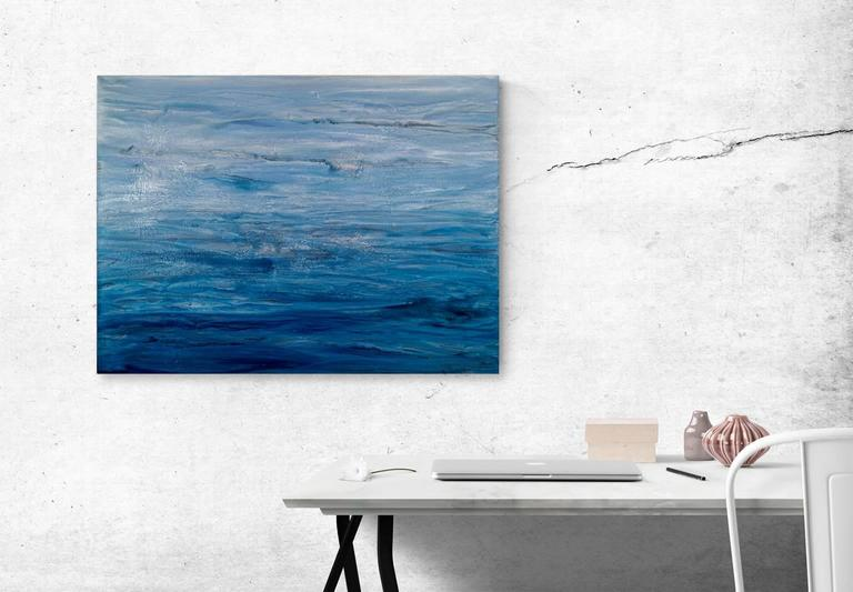 'Going Nowhere', Large Contemporary Abstract Minimalist Acrylic Painting For Sale 1