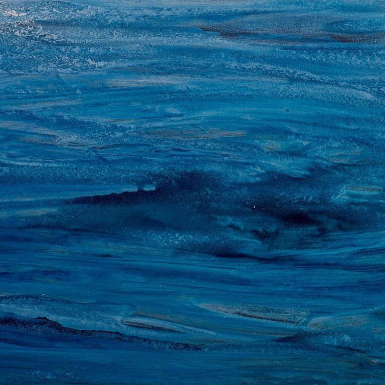 'Going Nowhere', Large Contemporary Abstract Minimalist Acrylic Painting - Blue Abstract Painting by Teodora Guererra