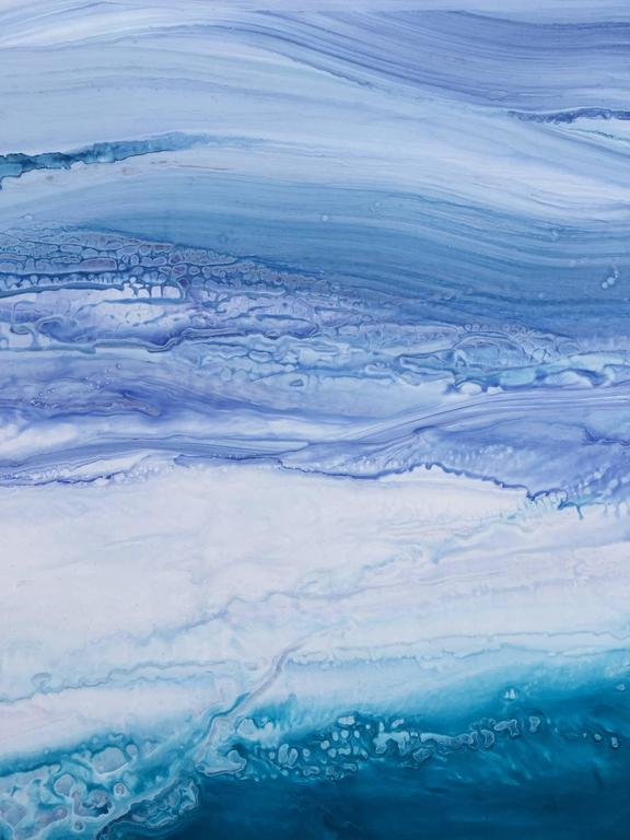 blue, navy, simple, aqua, clouds, sea, chic, movement, texture, atmosphere, relaxation, calm, sky, influence: Pat Steir.  BIOGRAPHY Teodora Guererra received her Bachelor of Arts in Art Education with a minor in Studio Art from Southern Connecticut