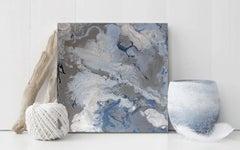'Nebula', Small Abstract Acrylic Painting on Wood
