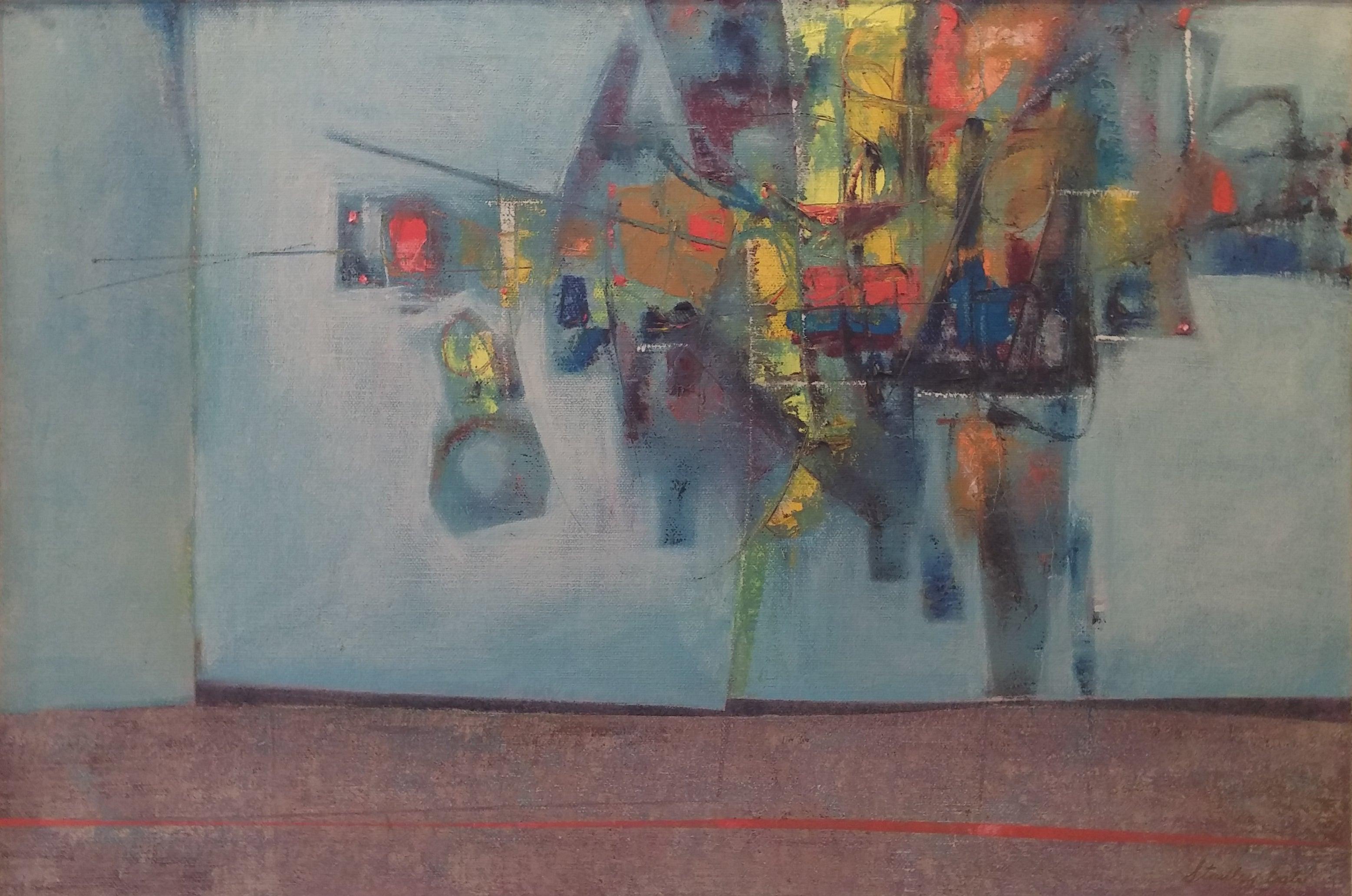 Stanley Bate - Pas De Deux, Painting im Angebot bei 1stdibs