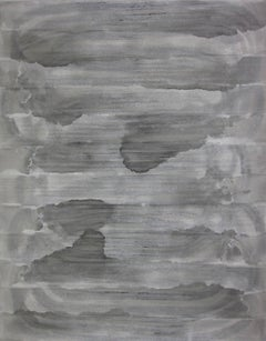 'Sado Island', Black and White Abstract minimalist Japanese painting