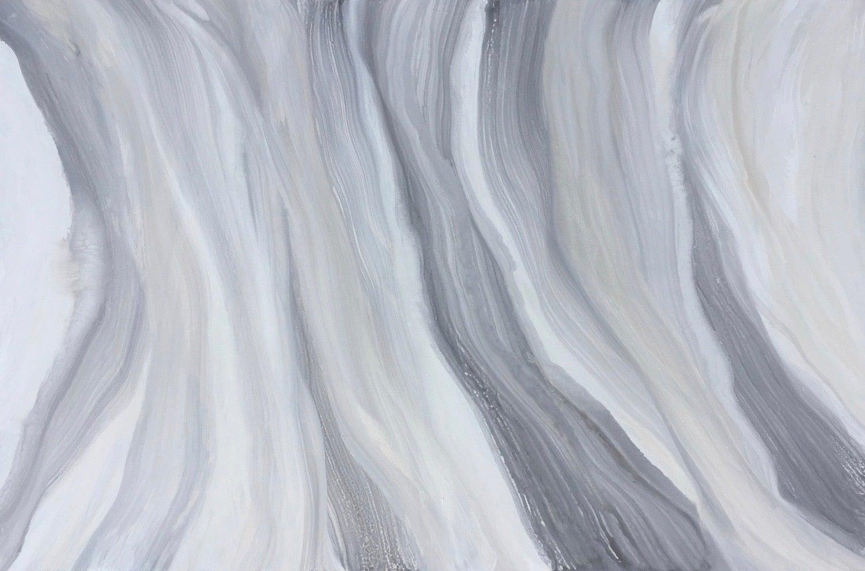 'Iridescent Swirl', Large Contemporary Abstract Minimalist Acrylic Painting