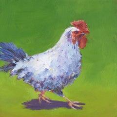 'Henrietta', Bold Contemporary Transitional Acrylic Painting