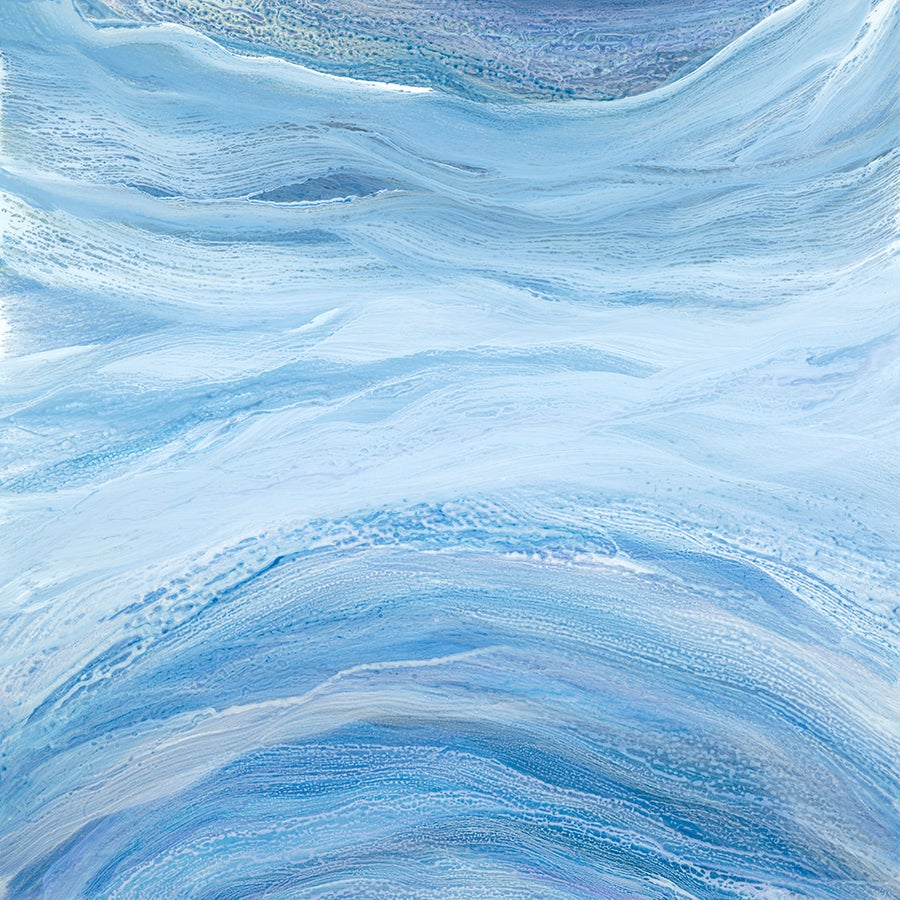 'Open Water', Large blue contemporary abstract acrylic painting