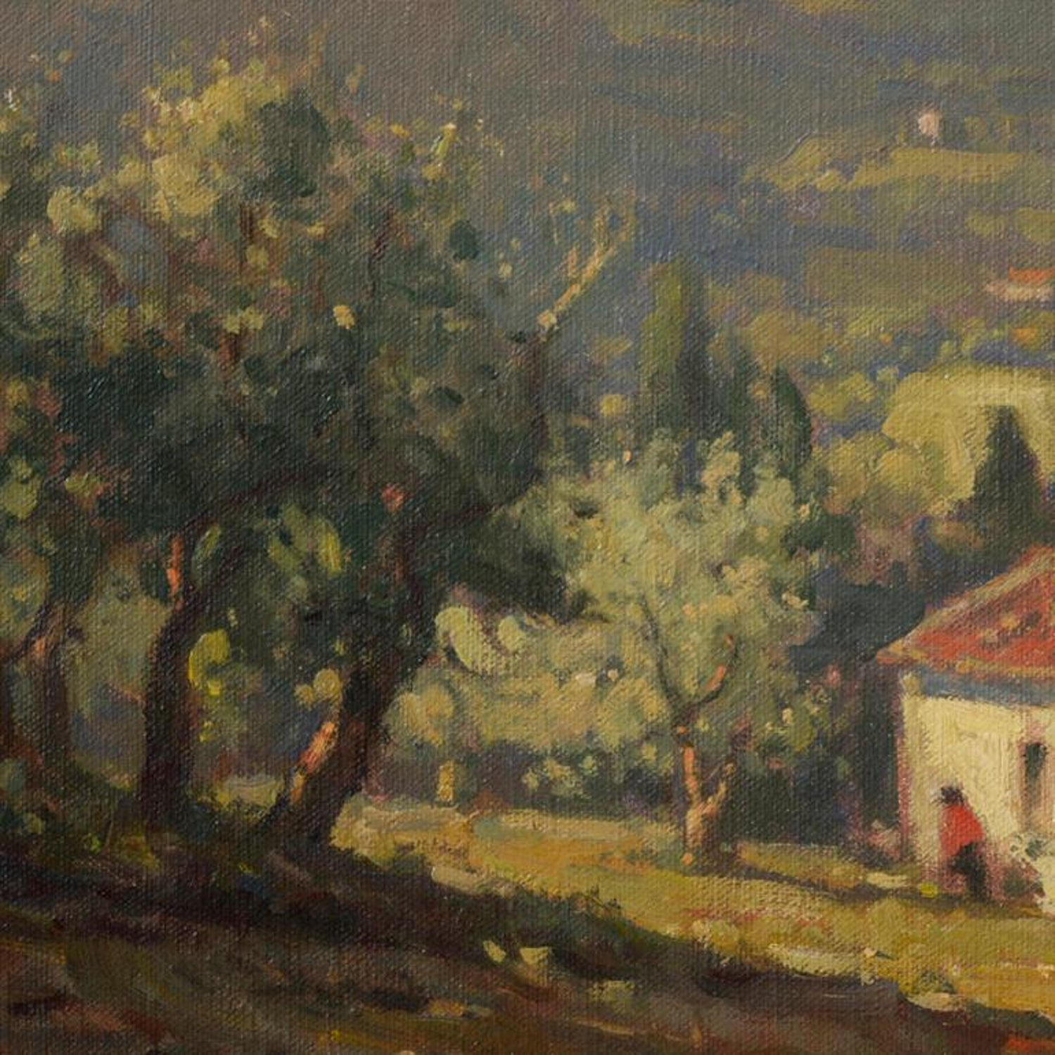 John C. Traynor - Olive Grove, Tuscany, Painting For Sale at 1stdibs