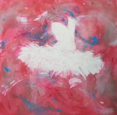 'Look at the Stars', Large contemporary acrylic mixed media ballet painting