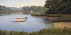 'Afternoon Solitude', Cape Cod Framed Modern Impressionist Marine Oil Painting