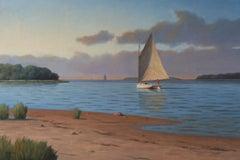 'Saturday Sail', Cape Cod Modern Impressionist Marine Oil Painting