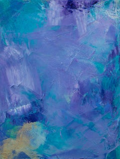 'Lavender 2', contemporary abstract oil painting mini series