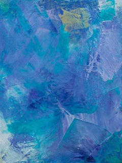 'Lavender 4', contemporary abstract oil painting mini series