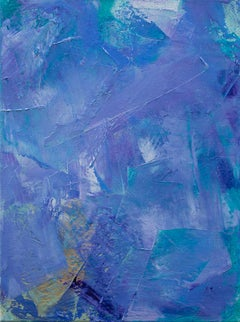 'Lavender 5', contemporary abstract oil painting mini series