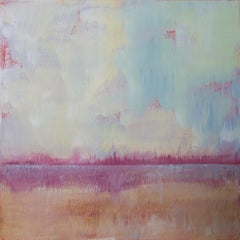 'Beyond the Shallows', Modern Minimalist Abstract Landscape Acrylic Painting