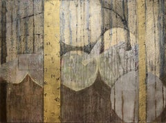 'Ancient Weaving', Contemporary Geometric Abstract Mixed Media Oil Painting