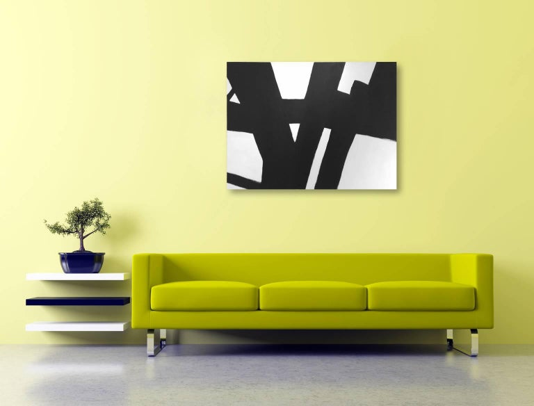 'Whole Lotta Sling', Black and White Abstract Painting For Sale 3