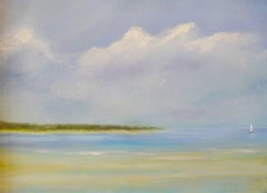 """Tranquil Escape,"" Seascape Painting"