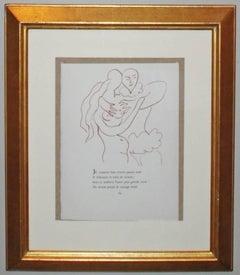 Plate XXII, from Florilege des Amours de Ronsard