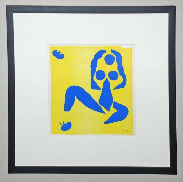 (after) Henri Matisse Animal Print - Nu bleu, la grenouille (Blue Nude, The Frog), Nus Bleus IX