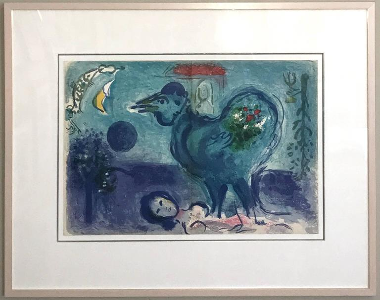 Paysage Au Coq (Landscape with Rooster) - Print by Marc Chagall