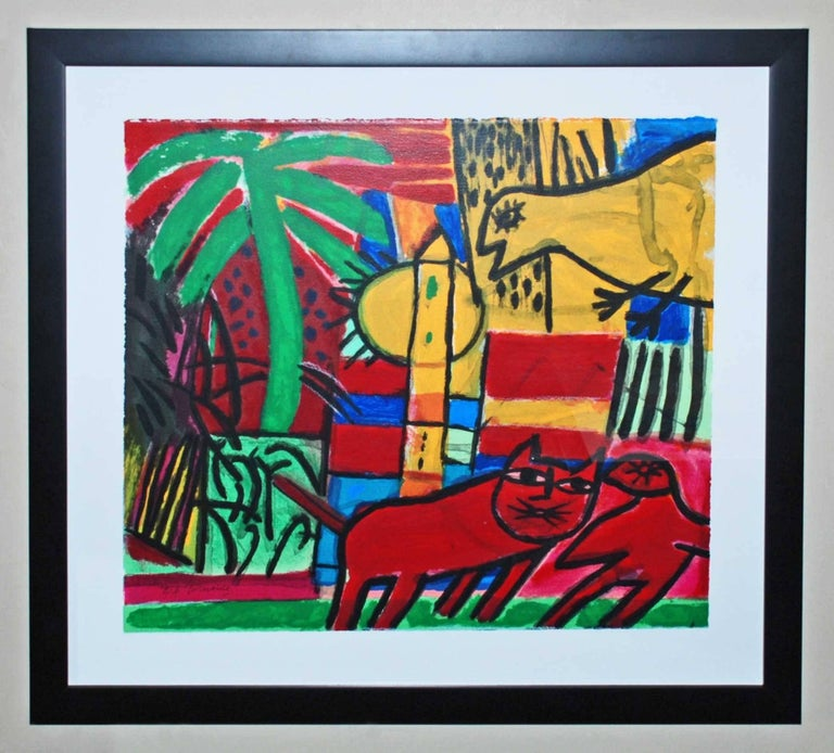 Corneille Abstract Print - Le Chat Rouge
