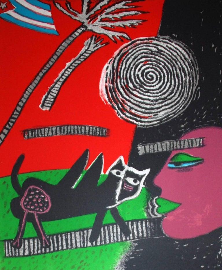 Le Chat Noir - Print by Corneille