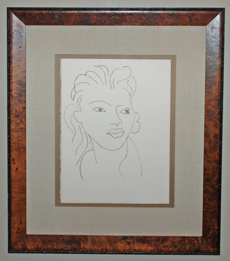Hier, de tes Doights d'Or Pale, from Poesies Antillaises - Print by Henri Matisse