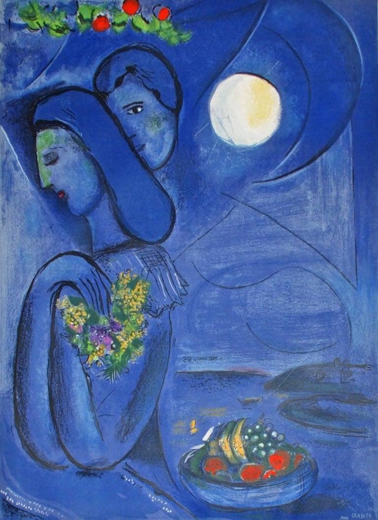 (after) Marc Chagall - Saint Jean Cap-Ferrat, Print at 1stdibs Chagall Ferrat