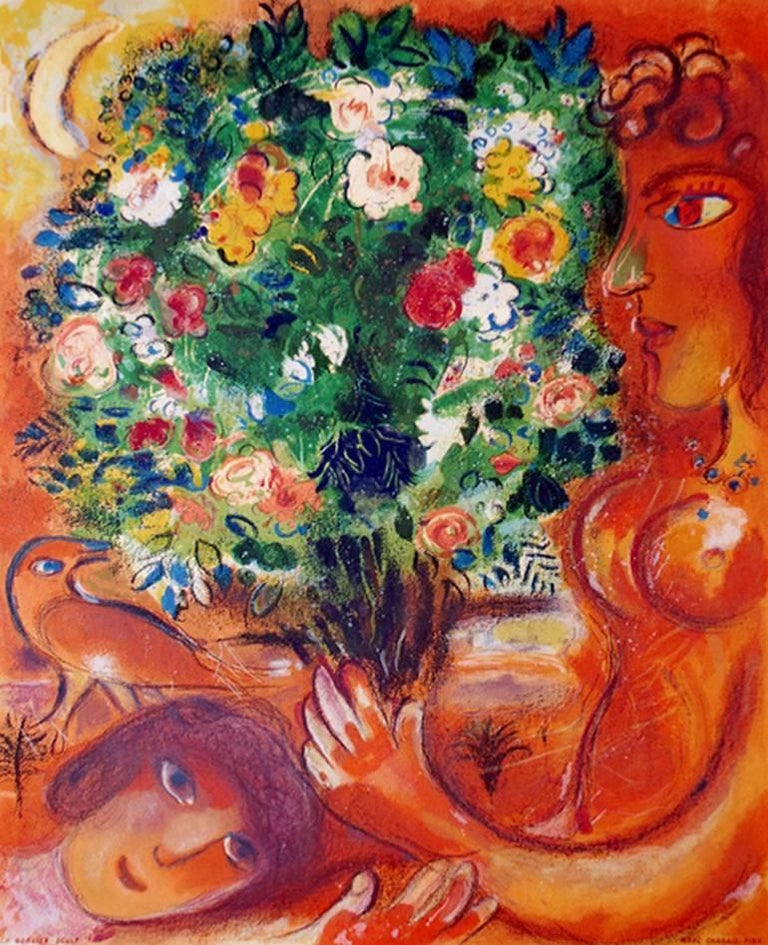 marc chagall bouquet woman and horse Marc chagall: biography afters: back: red bouquet with lovers $1200: lover with bouquet (giving the bouquet) sold: circus horse riders sold : ten.
