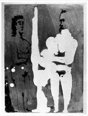 Peintre Debout a son Chevalet, avec un Modele, from Sable Mouvant