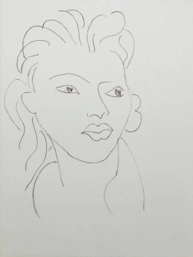Henri Matisse Portrait Print - Hier, de tes Doights d'Or Pale, from Poesies Antillaises