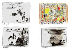 A Los Toros Avec Picasso (Set of Four)