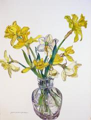 Daffodils in Narrow Necked Vase