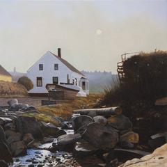 Morning Fog, Trefethan House, Monhegan