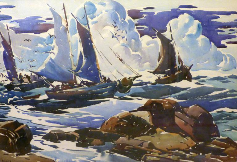 George Pearse Ennis Landscape Art - Fish off Eastport