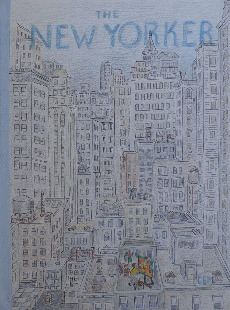 New Yorker Cover, Roof-Top Painter