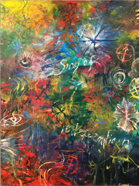 Ford Crull Abstract Painting - Song of Redemption 2