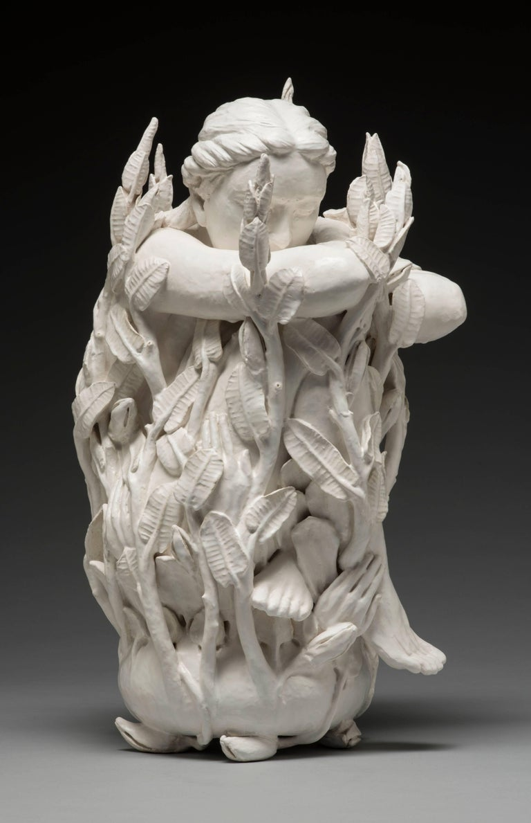 Adrian Arleo Figurative Sculpture - Kwan Yin, Cloak