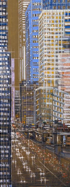 City Connections 17 - Painting by Katie Metz