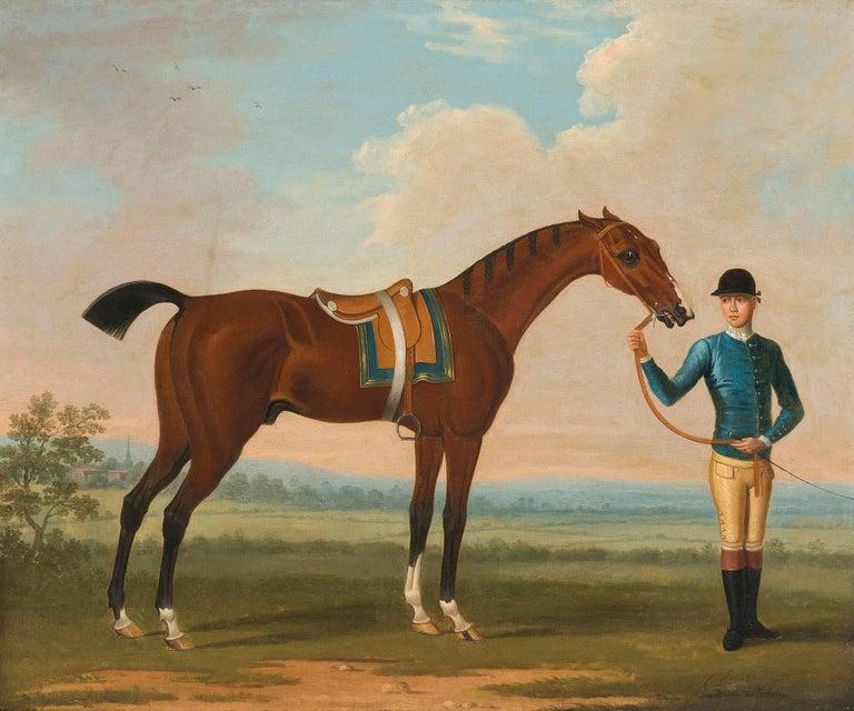 The Duke of Devonshire's 'Flying Childers' held by a jockey  1