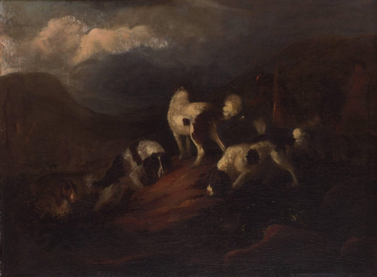 Adriaen Beeldemaker - Spaniels in a landscape 1