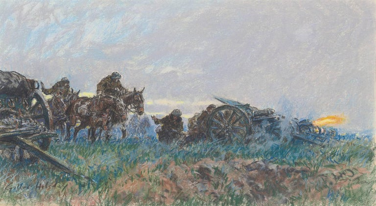 Gilbert Holiday - FIRING THE FIELD GUNS ON THE WESTERN FRONT 1