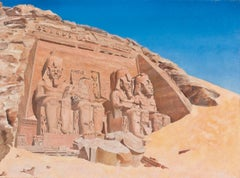 ENGLISH SCHOOL - THE GREAT TEMPLE OF RAMESSES II AT ABU SIMBEL, EGYPT