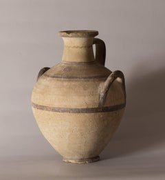 A CYPRIOT IRON AGE POTTERY HYDRIA, C. 1050 - 850 B.C., CYPRO-GEOMETRIC