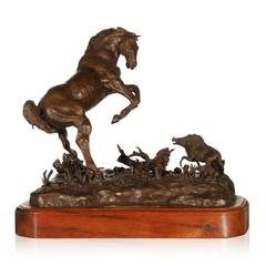 Mother Trouble Bronze Horse Sculpture by Dana McLeod