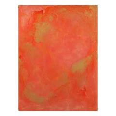 AN4 Orange, Gold and Resin Signed Original Abstract Painting