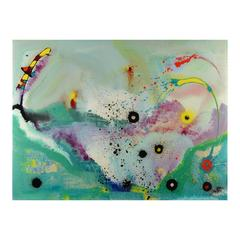 Untitled Signed Original Abstract Painting 1995