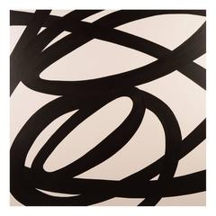 INTERCHANGE Black and White Abstract Painting