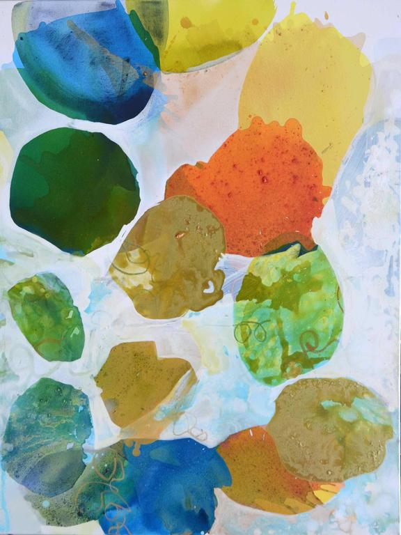 Liz Barber Abstract Painting - Summer Day 1