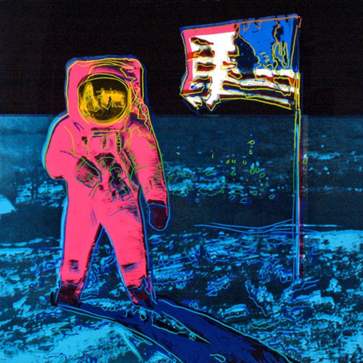 Andy Warhol Moonwalk Pink Ii 405 Print At 1stdibs